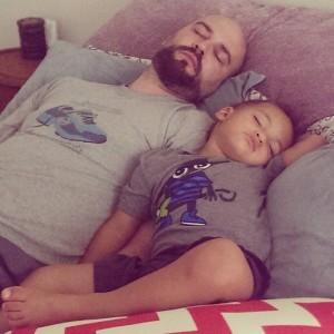 Gavin and Trent sleeping